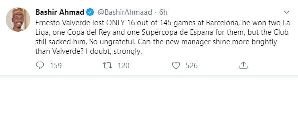 Buhari's Aide Tweet