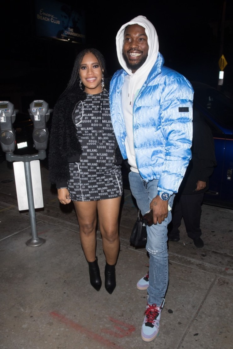 Meek Mill and pregnant Girlfriend