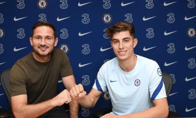 Frank Lampard welcomes Kai Havertz to Stamford Bridge