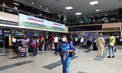 Nigeria airport social distancing - covid-19