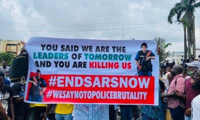 Nollywood actors join protest in Lagos against SARS