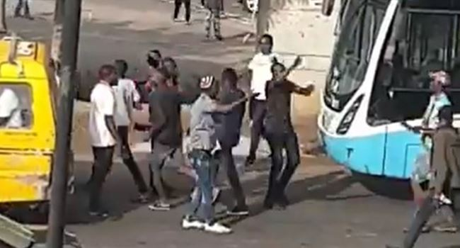 Suspected Thugs Attack Protesters In Lagos