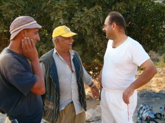Abed with Abu Abdallah and Hamze