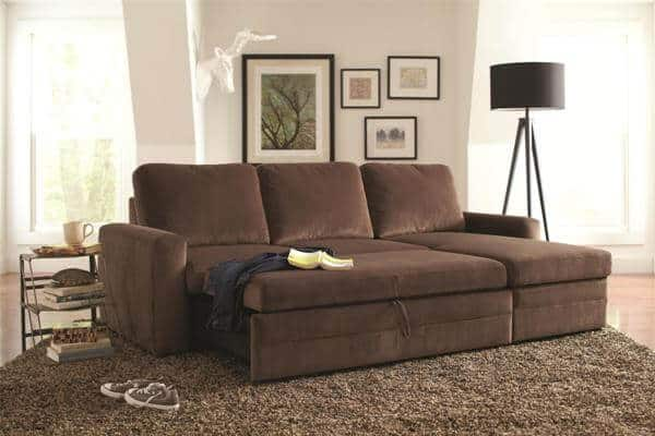 Gus Sectional Sofa With Pull Out Bed And Storage All Nations : pull out sectional sofa - Sectionals, Sofas & Couches