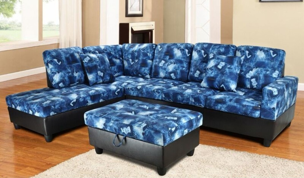 f106a blue denim sectional with storage ottoman