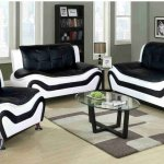 F4501 Black White Ceccina Modern Leather Sofa Loveseat And Chair All Nations Furniture