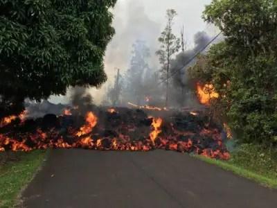 Lava flows in the Hawaiian Islands-anfood