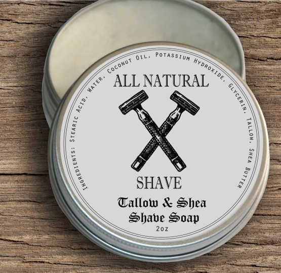 Tallow and Shea Shave Soap for people with sensitive skin