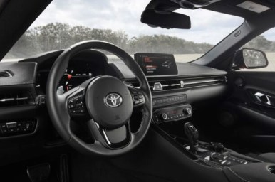 2021 Toyota Supra with new interior design