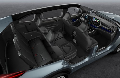 2021 Toyota Kluger with new interior design