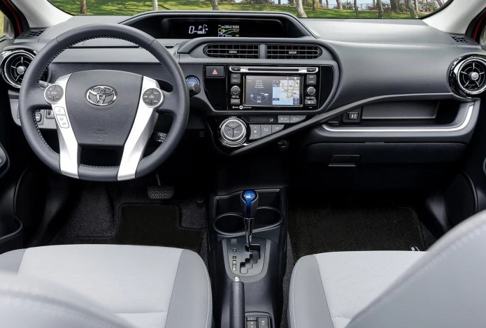 2021 Toyota Prius C Dashboard and Infotainment Features