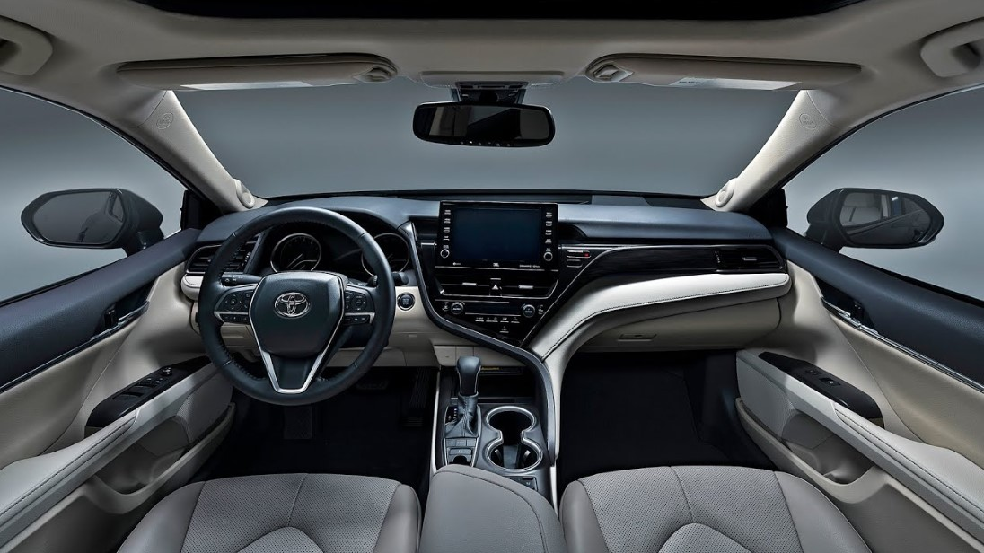 2021 Toyota Camry Hybrid with new interior design