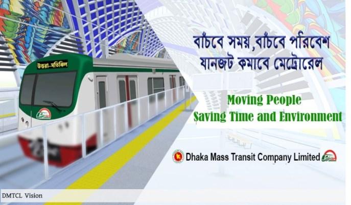 Dhaka Metro-Rail Job Circular 2019 DMTCL