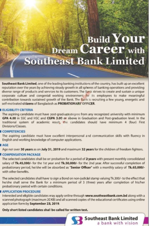 Bank Job Circular 2019