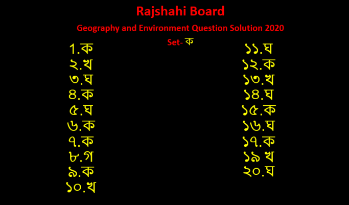 ssc rajshahi geography and environment answer solution 2020 ssc rajshahi geography and environment answer solution 2020