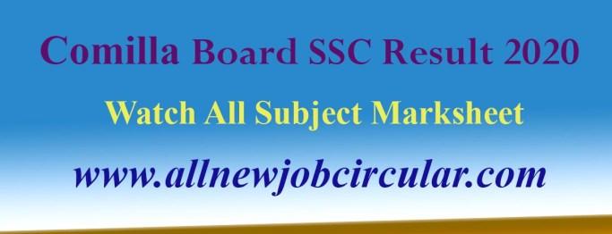 SCC Result 2020 From Comilla Board