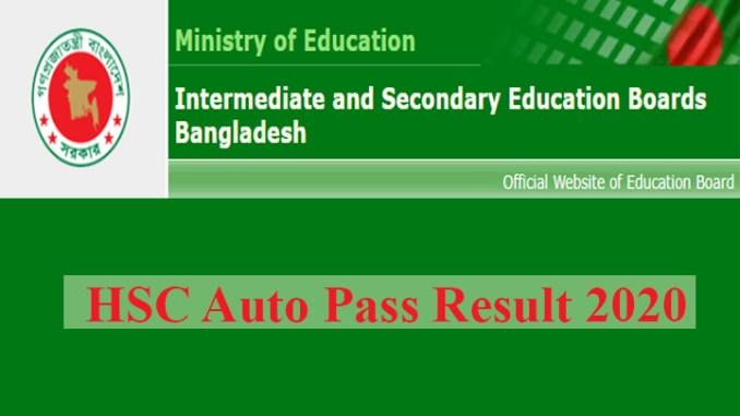 hsc auto pass result 2020