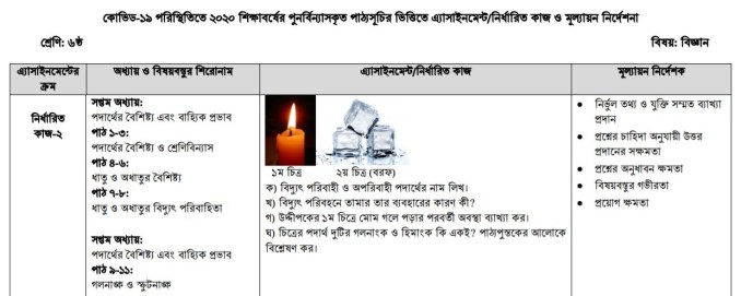 class 6 science assignment answer 4th week