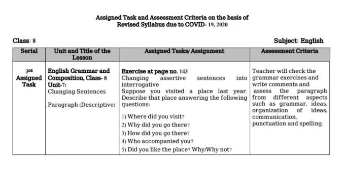 class 8 english 2nd paper grammar answer