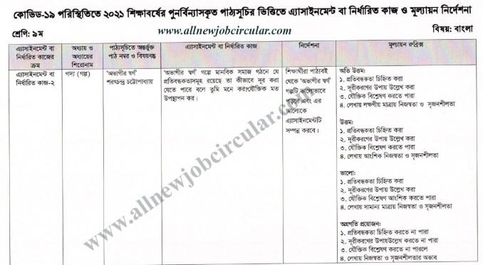class 9 assignment bangla 2021 4th week