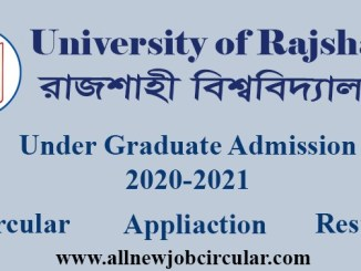 rajshahi university admission apply