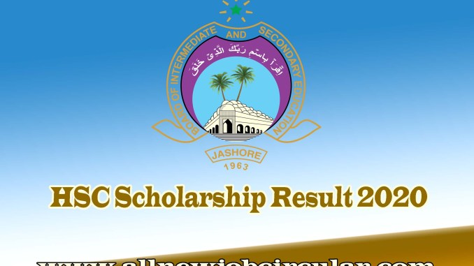 jessore board hsc scholarship result