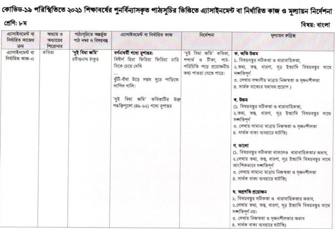 class 8 assignment bangla
