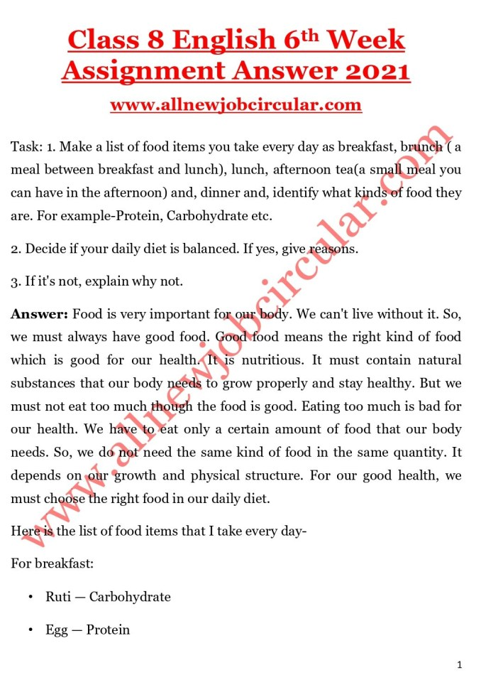 class 8 english 6th week assignment answer 2021_page-0001