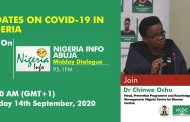 COVID-19 situation update  worldwide and Nigeria as of 14 September 2020