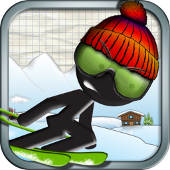 stick man ski racer