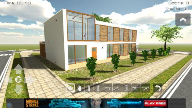 modern beach house demolition