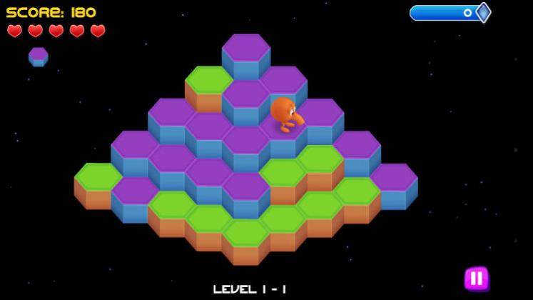 qbert rebooted level screenshot
