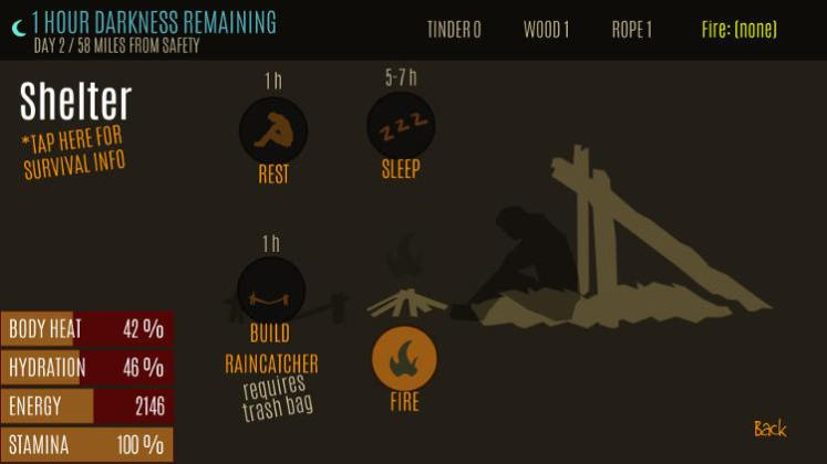 survive wilderness game shelter