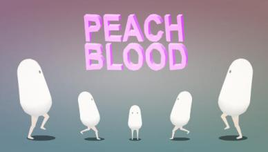 peach blood splash