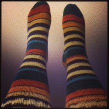Rusty Stripes Socks by Patons Kroy Socks