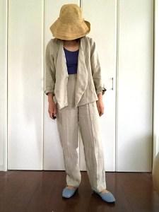 リネン生地で作ったジャケット
