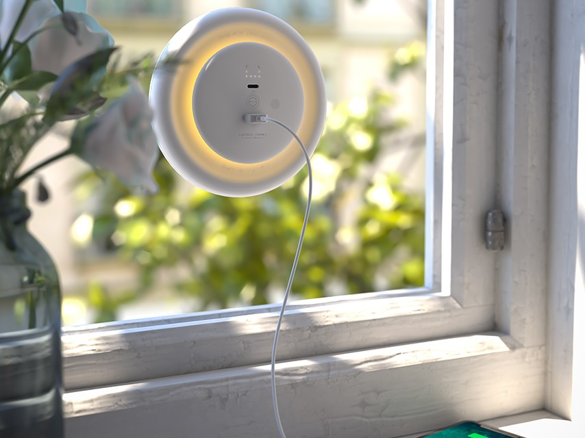 LightDisc |Solar| Window Solar Charger Shines for up to 12 hours
