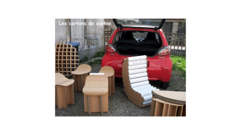 Des sièges en carton recyclé