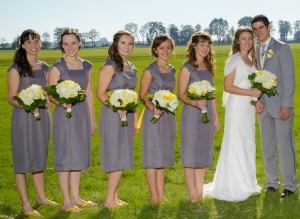 Bridesmaids Dresses by seamstress Lois Miller