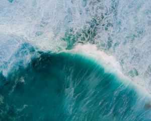 aerial shot of sea