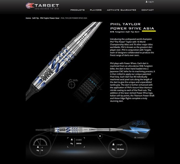 PHIL TAYLOR POWER 9FIVE ASIA Soft Tip