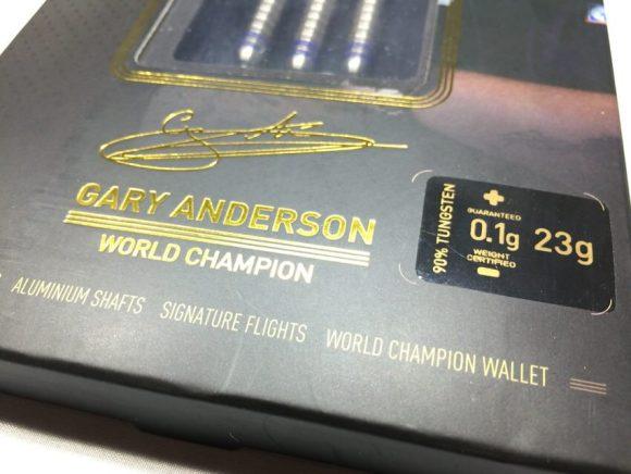 Unicorn World Champion Gary Anderson Steel The Flying Scotsman Phase 3 23g ユニコーン ワールドチャンピオン ギャリー・アンダーソン スティール ザフライングスコッツマン フェーズ3