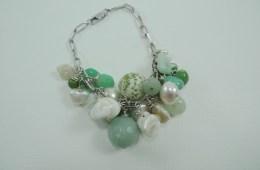 Bracelet «grappe» vert
