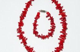 Collier & Bracelet Corail Bambou