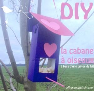 cabane diy mangeoire oiseaux