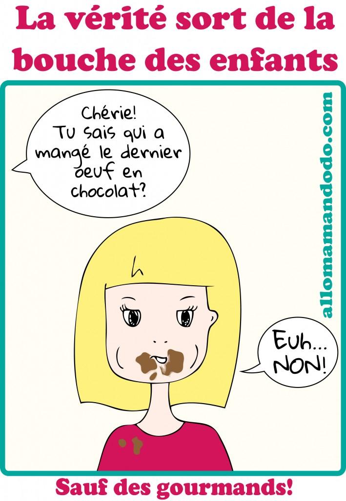 vérité chocolat enfant humour