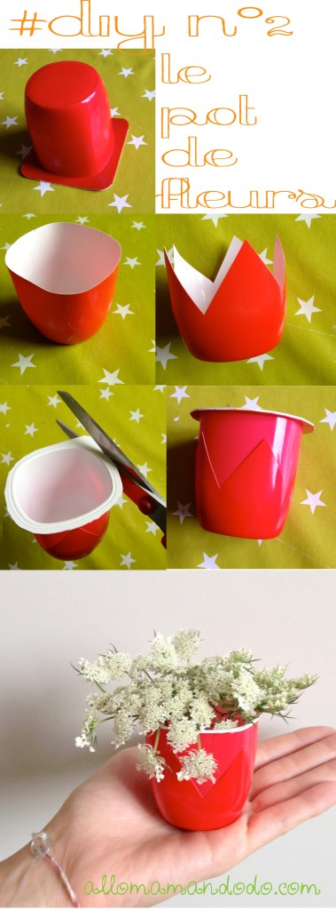 diy vase pot de yaourt