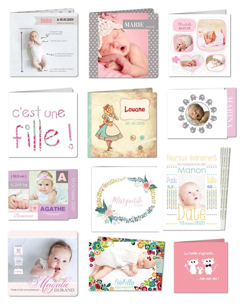 faire-part fille bébé naissance vintage joli planet cards