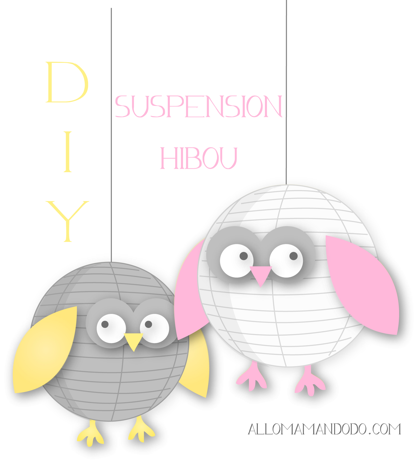 diy suspension hibou pour une joli d co de chambre allo maman dodo. Black Bedroom Furniture Sets. Home Design Ideas
