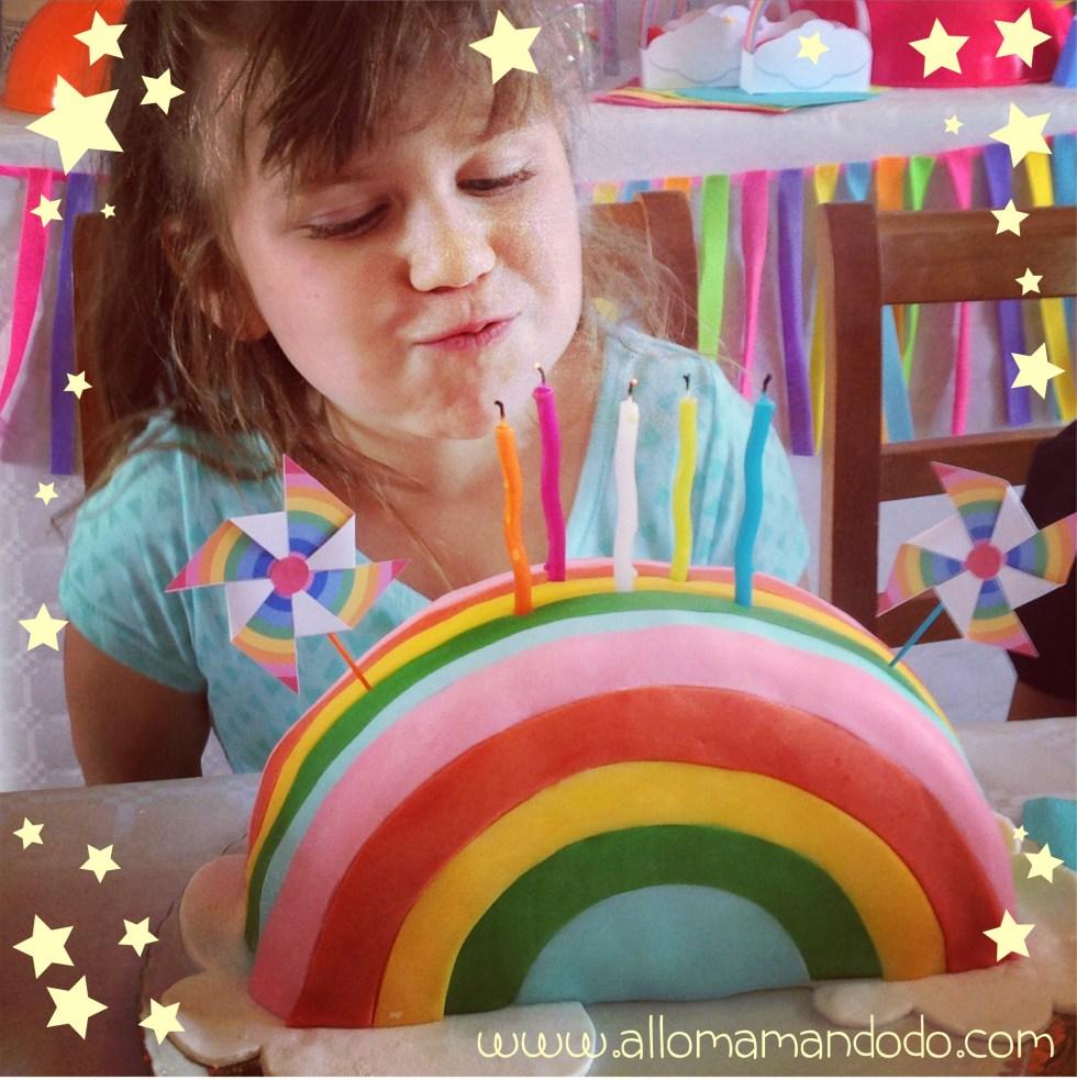 rainbow party cake shape arcenciel gateau